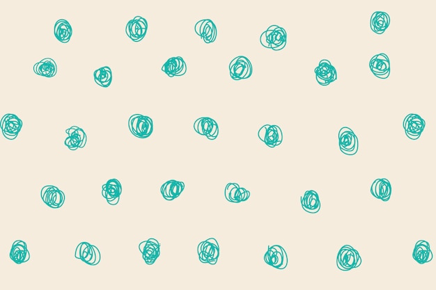 Tupfenmusterhintergrund, grüner gekritzelvektor, ästhetisches design