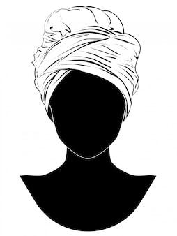 Turban im afrikanischen stil