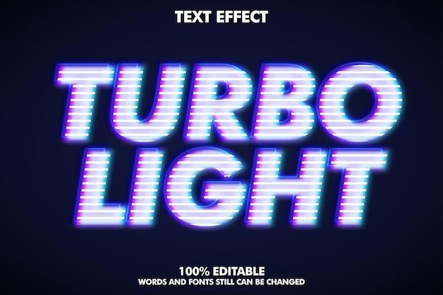 Turbo light texteffekt