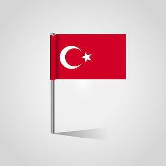 Turkish-flaggendesign mit flaggenvektor
