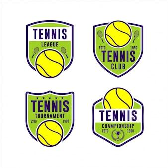 Turnier tennis meisterschaft logo set