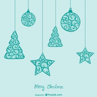 Turquoise weihnachtskarte