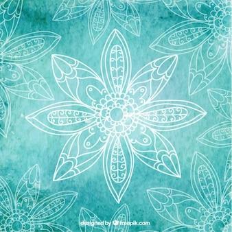 Turquoise yoga hintergrund