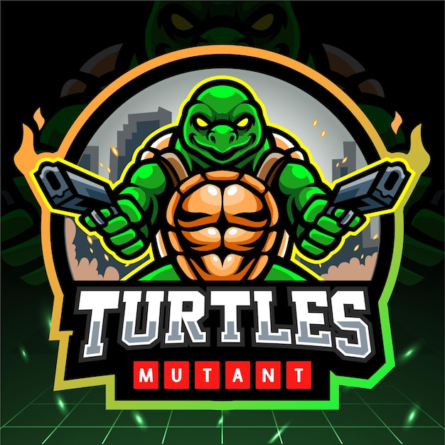 Turtle mutant esport logo design