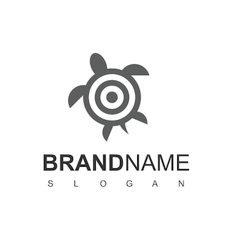 Turtle target logo-designvorlage