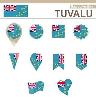 Tuvalu flag collection, 12 versionen