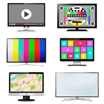Tv-bildschirm im flat-design