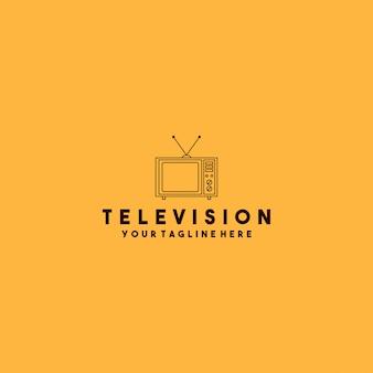 Tv-logo-design mit minimalistischem stil
