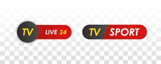 Tv-nachrichtenleiste logos-nachrichten speisen fernsehradiosender