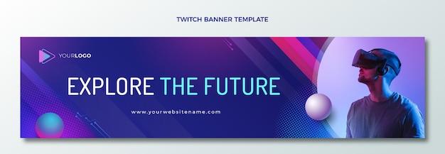 Twitch-banner mit farbverlaufshalbtontechnologie