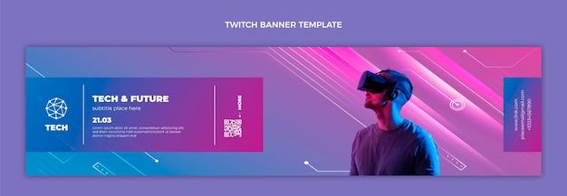 Twitch-banner mit verlaufstexturtechnologie