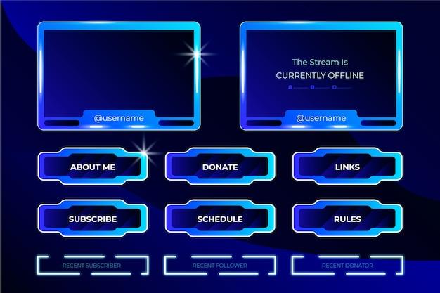 Twitch stream panel design
