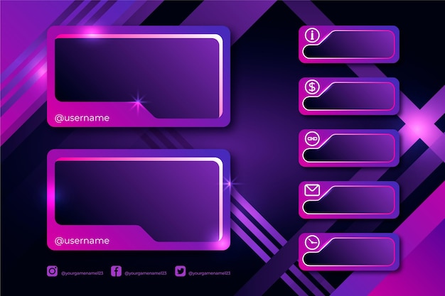 Twitch stream panel