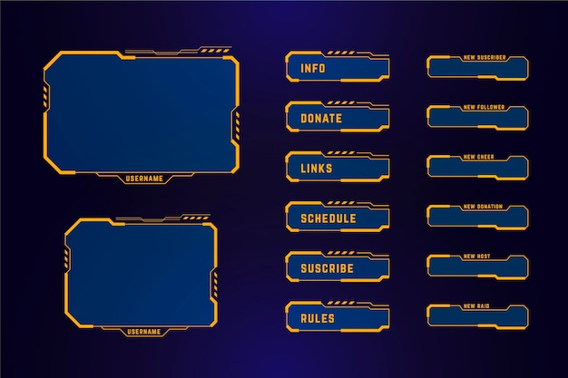 Twitch stream panels design