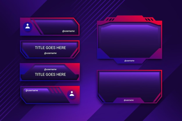 Twitch stream panels sammlung