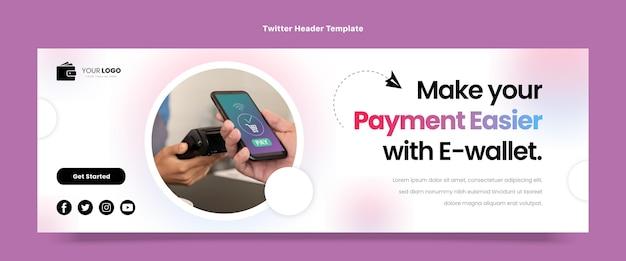 Twitter-header mit flachem design und minimaler technologie