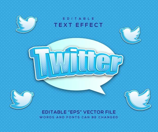 Twitter-texteffektstil