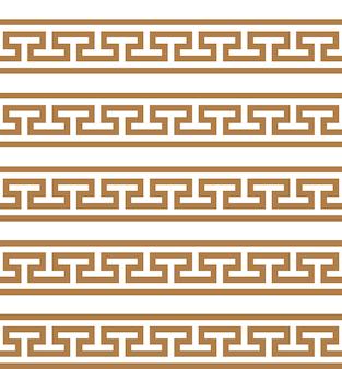 Typisch ägyptische assyrische und griechische motive griechischer schlüssel arabische geometrische textur islamische kunst
