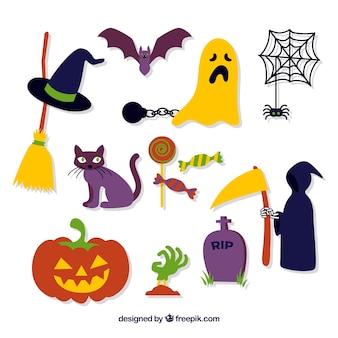 Typische halloween-attribute