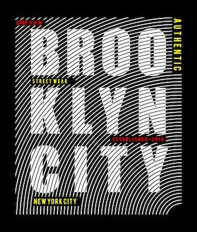 Typografie der stadt brooklyn