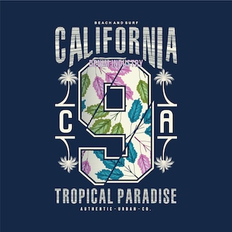 Typografie des kalifornischen strandthemas