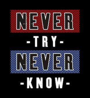 Typografie-design für druck-t-shirt