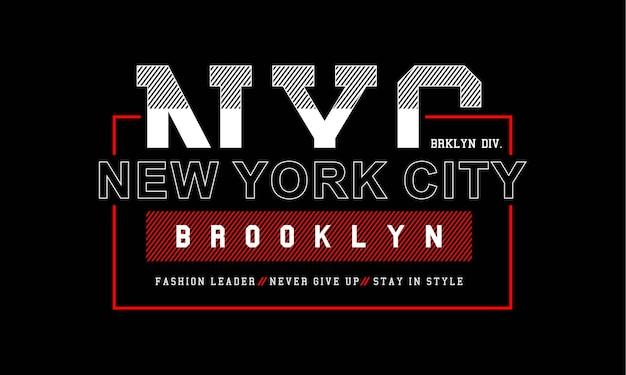 Typografie-design für print-t-shirt premium