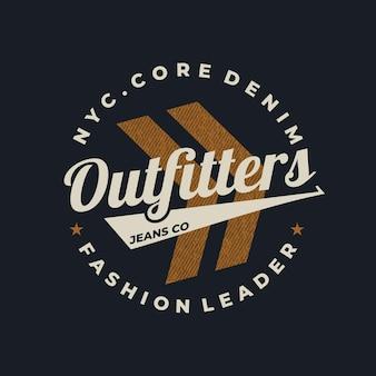 Typografie-designzubehör für t-shirt premium-vektor premium-vektor premium-vektor