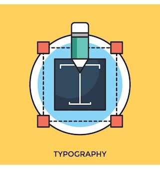 Typografie flache vektor icon
