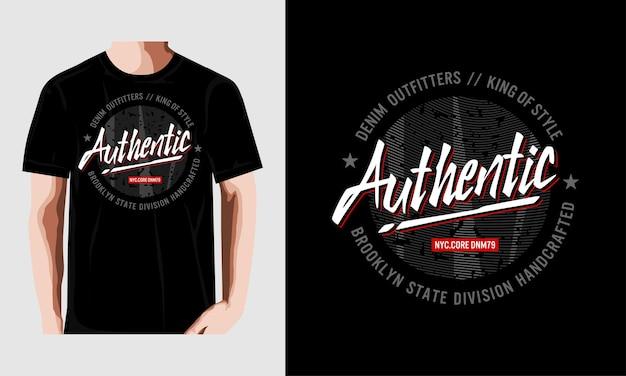 Typografie für t-shirt-druck premium-vektor