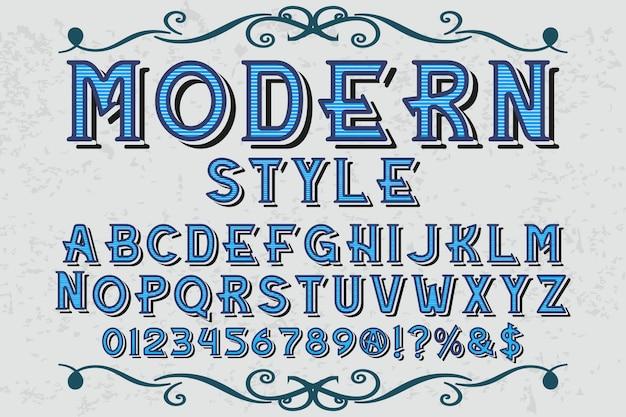 Typografie grafikstil modernen stil