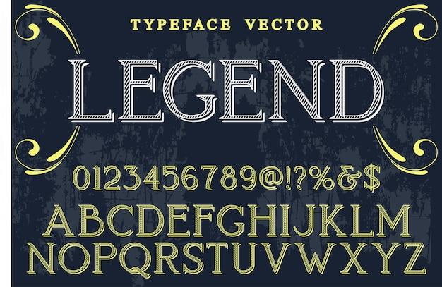 Typografie handgefertigt, legende