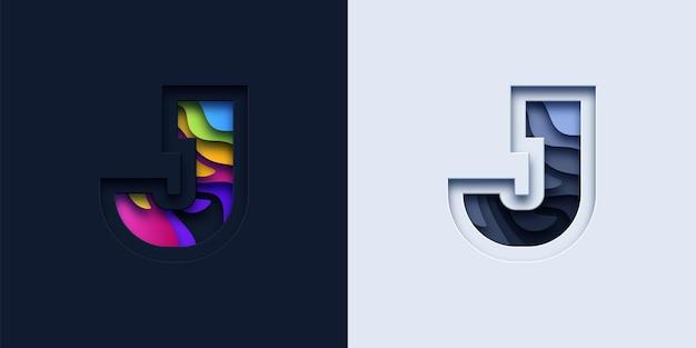 Typografie-logo des buchstabens j.