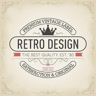 Typografie-logo-design im retro-stil