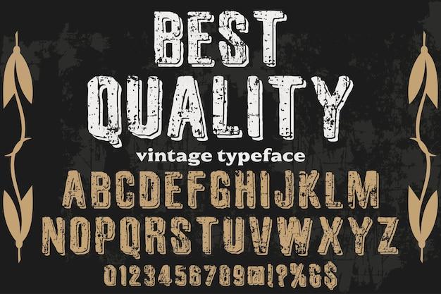 Typografie mit dem wort beste qualität