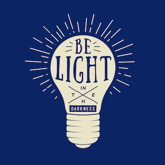 Typografie mit lampe
