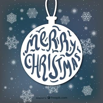 Typografie mit weihnachtskugelform