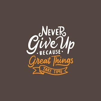 Typografie motivation zitat