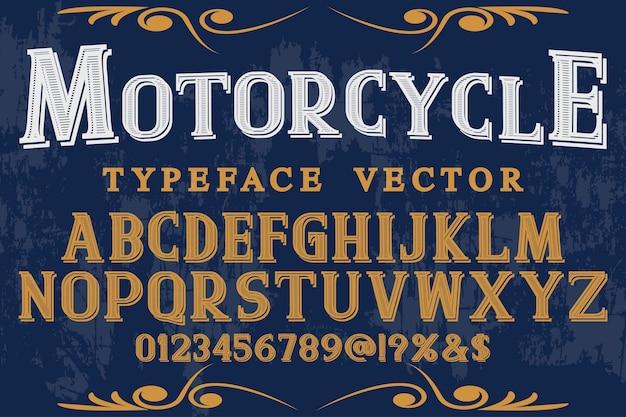 Typografie-schatteneffekttypografie-schriftartmotorrad