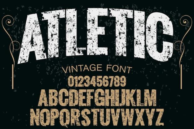Typografie-schriftart atletic