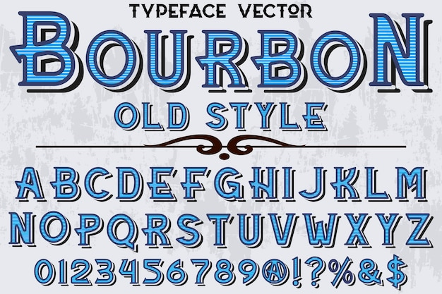 Typografie-schriftart bourbon