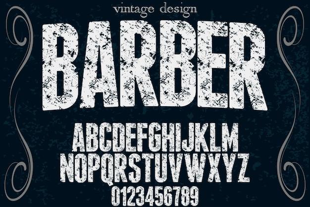 Typografie schriftart friseur