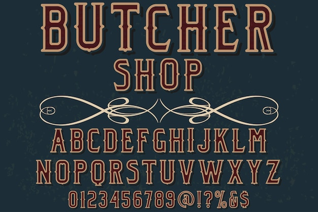 Typografie schriftdesign metzger