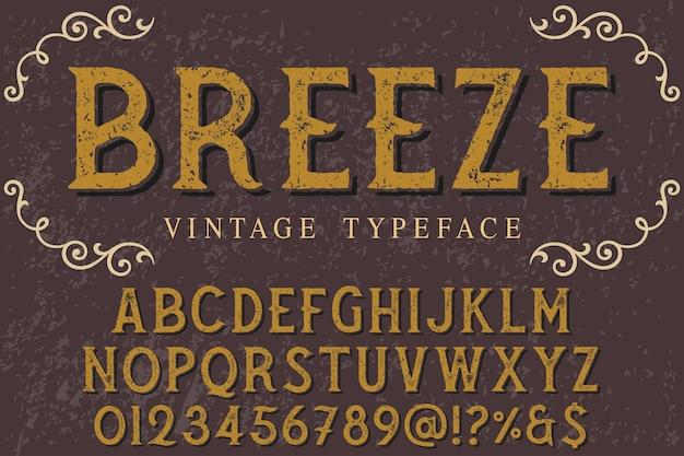 Typografie shadow effect label design brise