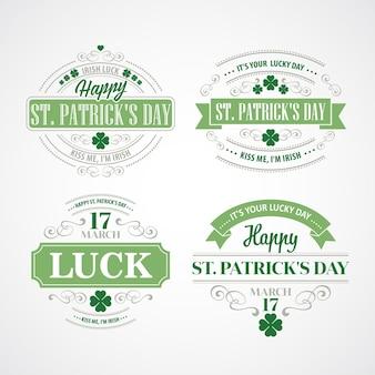 Typografie st. patricks day. illustration