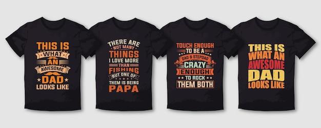 Typografie t-shirt design bundle