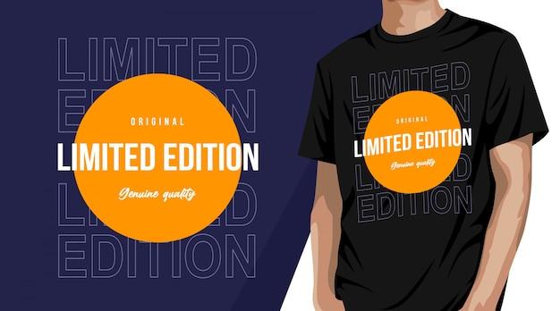Typografie-t-shirt-design in limitierter auflage