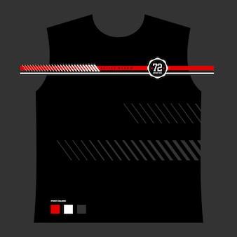 Typografie t-shirt design vektor und muster premium-vektor