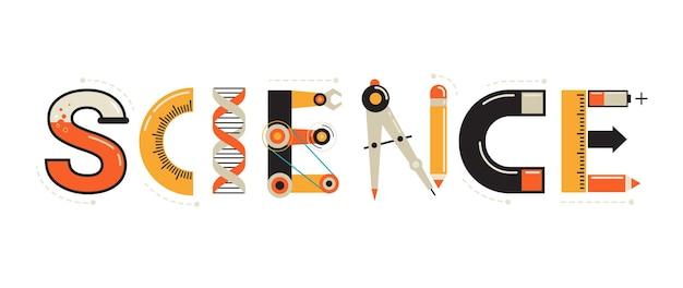 Typografie und hintergrund des wissenschaftsbanners