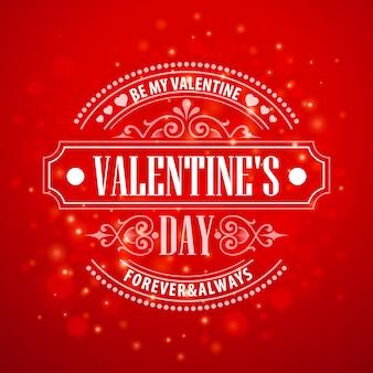 Typografie-valentinstagkarten
